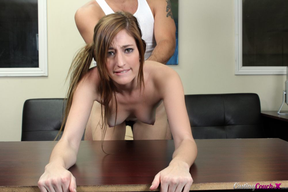Red head slut sucks and fucks two guys with long hair