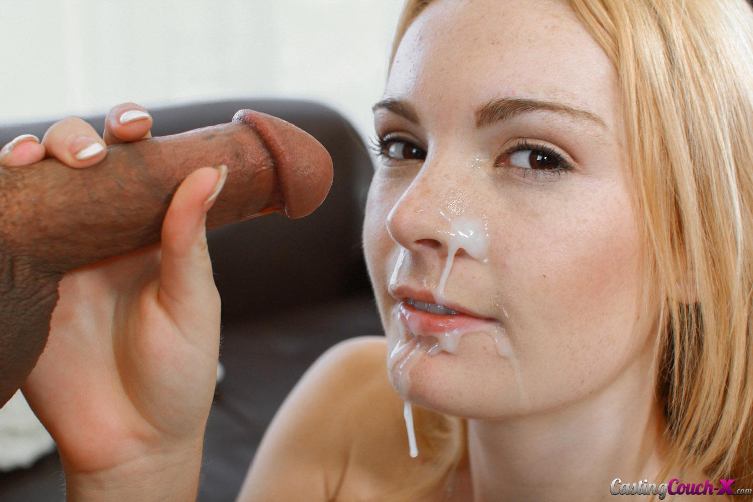 Hd castingcouchx kennedy leigh begs for her first facial - 2 part 5